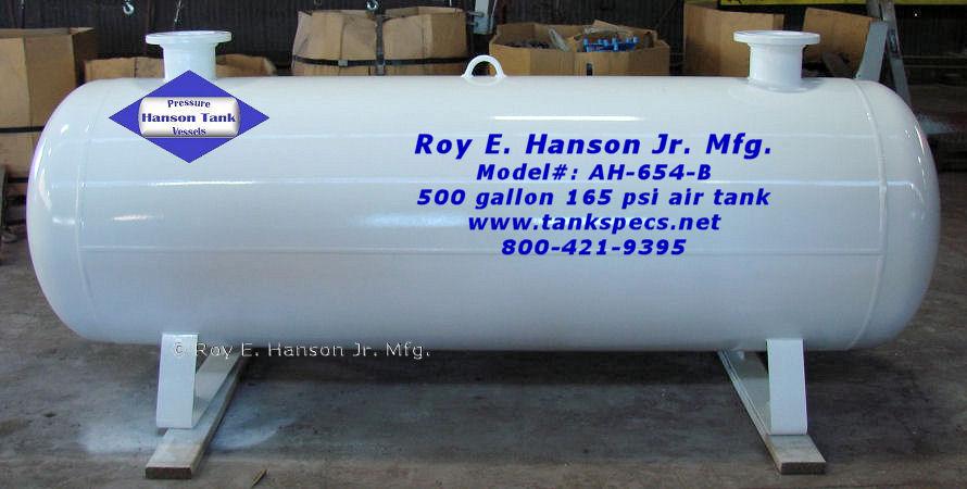 Air Storage Tank 500 Gallon Ah 654 B
