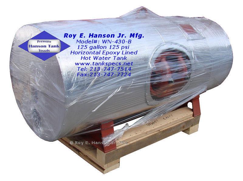 125 gallon Horizontal Water Tank