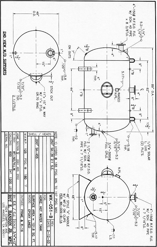 water storage tank  water storage tank drawings
