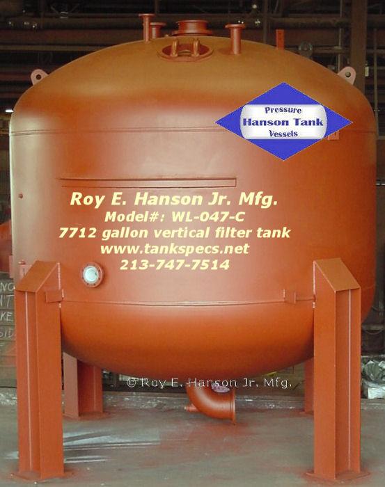 Arsenic Water Filter Tanks - Vertical Water Tank - WL047C